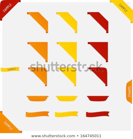 nouvelle · bleu · coin · ruban · flèche · pointant - photo stock © gladiolus