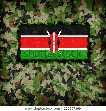 Camouflage uniform Kenia vlag textuur abstract Stockfoto © michaklootwijk