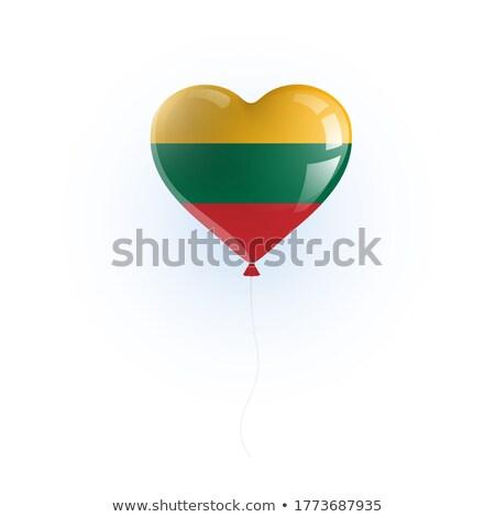 Ballon gekleurd vlag Litouwen gelukkig reizen Stockfoto © vepar5