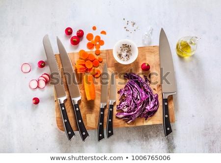 establecer · cuchillos · cuchillo · metal · cocina - foto stock © smuki