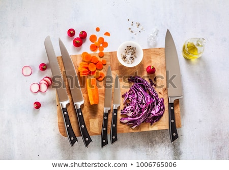Set of knives for kitchen Stock photo © smuki
