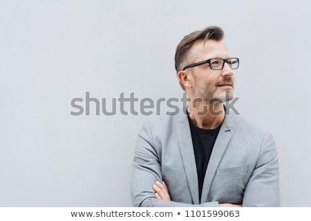 Zakenman portret exemplaar ruimte volwassen artistiek kantoor Stockfoto © stevanovicigor