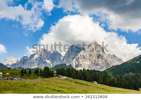famous pass in the Alpes Passo di Rolle, old ancient Pass in the dolomite Alpes Stock photo © meinzahn