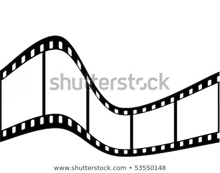 Filmstrip renkli örnek vektör Stok fotoğraf © derocz