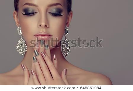 rose · diamant · brillant · lumière · gris - photo stock © nejron