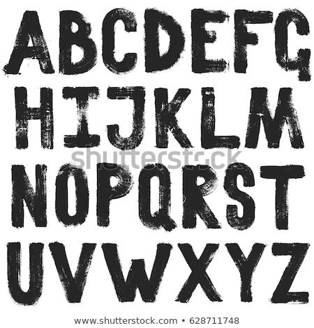 Main peint alphabet isolé blanche fond Photo stock © jonnysek