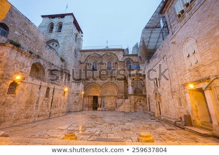 church of the holy sepulchre jerusalem stock photo © sarkao