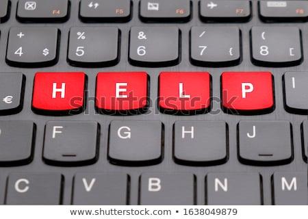 Solution on Red Keyboard Button. Stock photo © tashatuvango