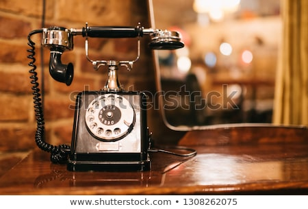 vintage telephones on the table Stock photo © Witthaya