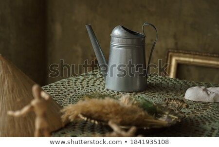 antique silver jug detail Stock photo © Sarkao