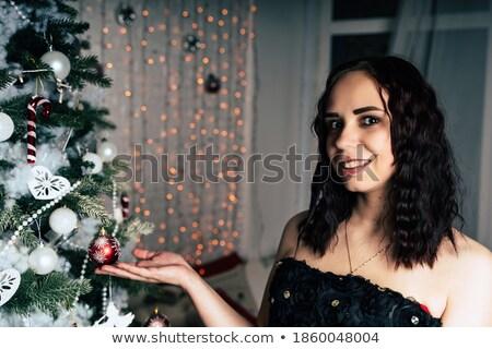 Séduisant brunette jouets chambre femme Photo stock © majdansky