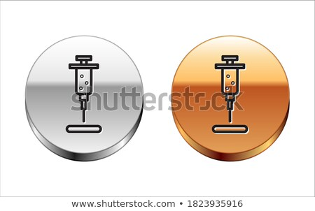 injection gold vector icon button stock photo © rizwanali3d