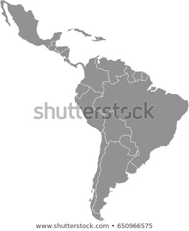 Térkép Amerika dél-amerika fehér város világ Stock fotó © mayboro1964