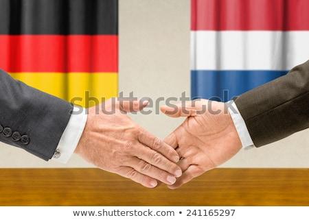 德國 荷蘭 握手 業務 手 成功 商業照片 © Zerbor