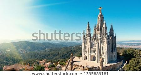 Барселона Панорама город Церкви Skyline архитектура Сток-фото © elxeneize