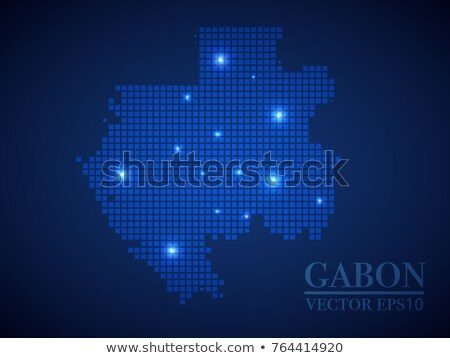 map of gabon gabonese republic with dot pattern stock photo © istanbul2009