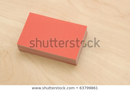 Bunch of Blank White Business Card on Wooden Background Stock photo © Akhilesh