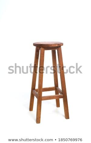 bar stool isolated on white background stock photo © ozaiachin