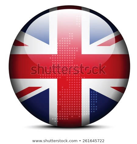 map with dot pattern on flag button   united kingdom of great br stock photo © istanbul2009