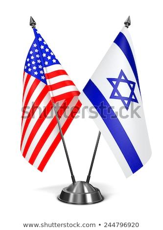 США миниатюрный флагами изолированный белый фон Сток-фото © tashatuvango