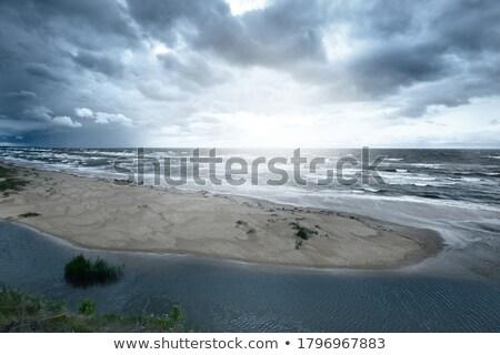 Balti-tenger naplemente hosszú idő kitettség tengerpart Stock fotó © w20er