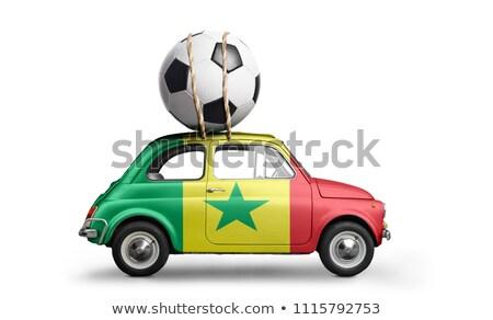 Russie Sénégal miniature drapeaux isolé blanche Photo stock © tashatuvango