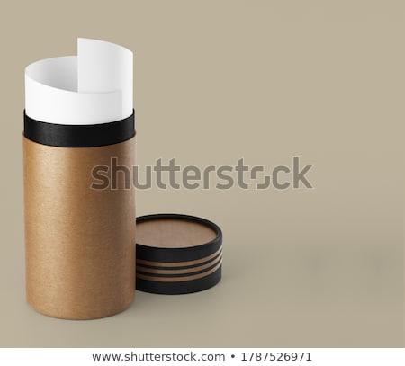 paper scroll in cone shape stock photo © shawlinmohd
