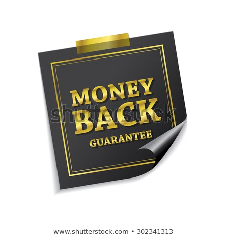 money back guarantee golden sticky notes vector icon design stock photo © rizwanali3d