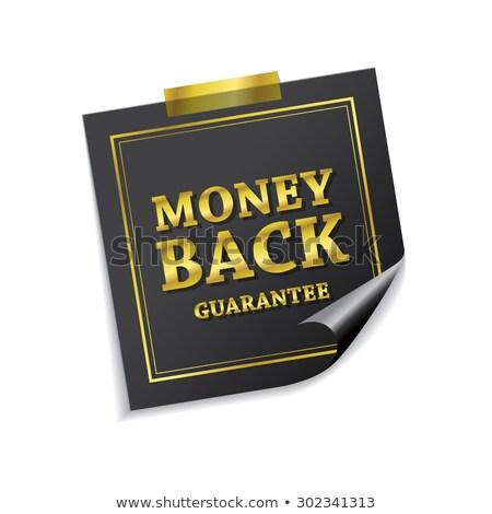 Money Back Guarantee Golden Sticky Notes Vector Icon Design Stock photo © rizwanali3d
