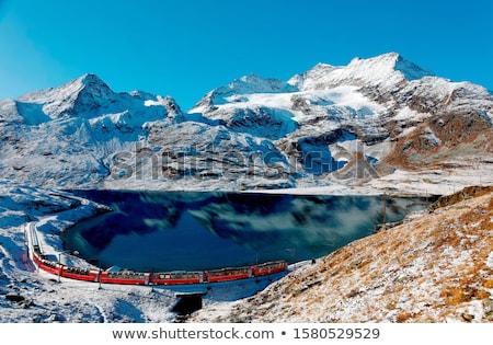 alpine · paysage · Suisse · gamme · nuages · neige - photo stock © capturelight