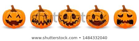 halloween · tökök · hold · fű · égbolt · textúra - stock fotó © timurock