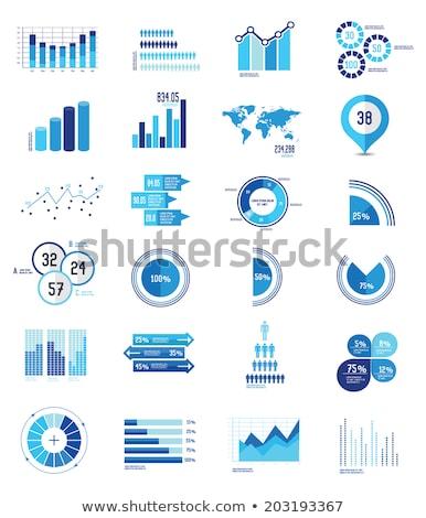 Graph Blue Vector Icon Design Stock photo © rizwanali3d