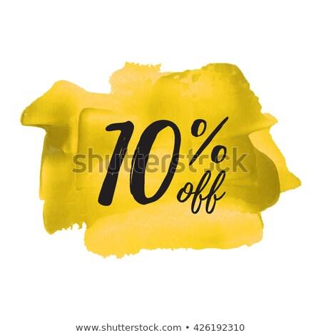 сохранить 10 процент желтый вектора икона Сток-фото © rizwanali3d