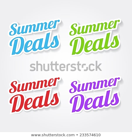 Summer Deals Blue Vector Icon Design Stock photo © rizwanali3d