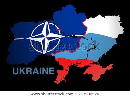 Ukraine map USA V RUSSIA Stock photo © adamfaheydesigns