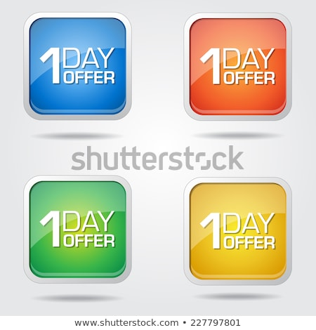 1 day Offer Blue Vector Icon Button Stock photo © rizwanali3d