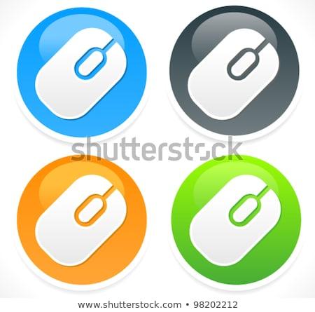 Usb знак синий вектора икона кнопки Сток-фото © rizwanali3d