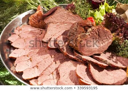 Smoked Boars Rump Stock photo © hanusst