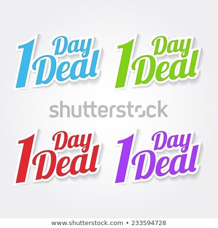 1 day deal blue vector icon design stock photo © rizwanali3d