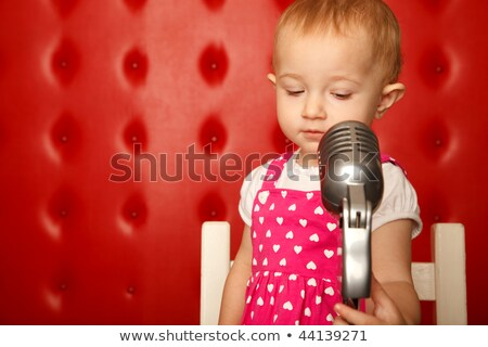 рок · катиться · ребенка · гитарист · жест - Сток-фото © paha_l