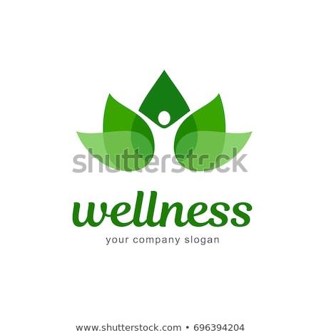 Gezond leven logo icon sjabloon boom man Stockfoto © Ggs