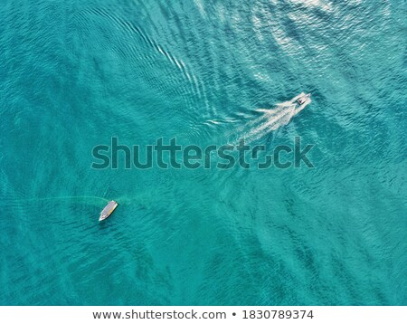 Idyllic island and two boats Stock photo © photohome