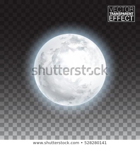 現実的な 満月 暗い 青空 詳しい ストックフォト © Fosin