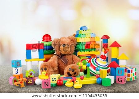 auto · piramide · legno · giocattoli · legno · retro - foto d'archivio © conceptcafe