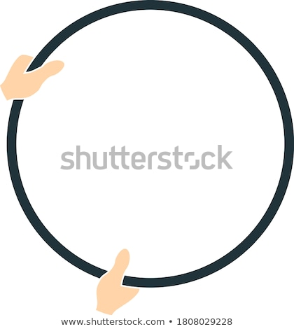 Flat design icon of hand holding photography reflector Stock photo © angelp