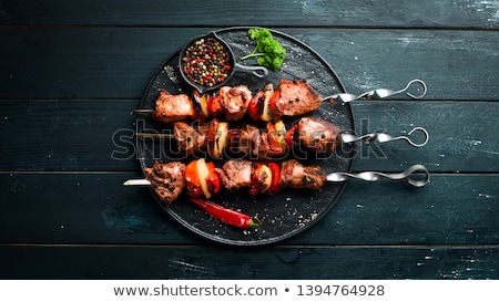 chicken and pork skewers stock photo © digifoodstock
