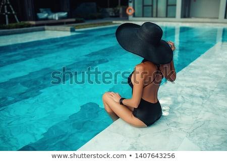 Elegant lady posing Stock photo © konradbak