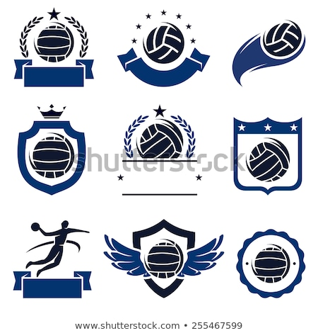 Water polo icon on round badge Stock photo © bluering