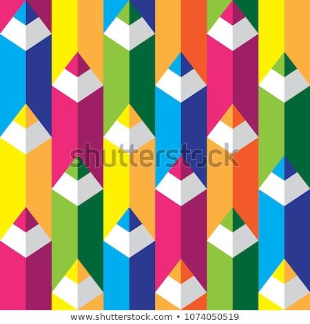 Vissza az iskolába tarka ceruzák papír textúra fa Stock fotó © carodi