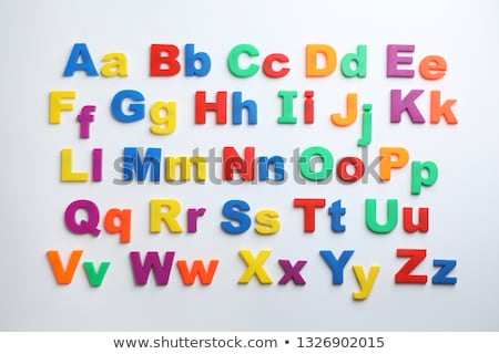 Colorido magnético cartas refrigerador alfabeto puerta Foto stock © adrian_n